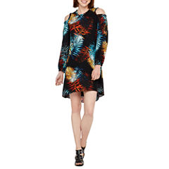 Worthington 3/4 Sleeve Leaf Shift Dress