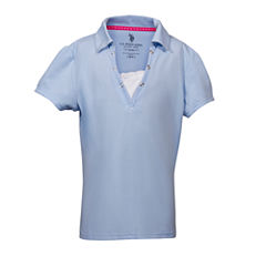 U.S. Polo Assn. Short Sleeve Solid Polo Shirt - Big Kid Girls