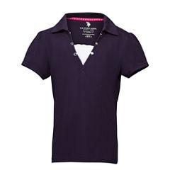 U.S. Polo Assn. Short Sleeve Polo Shirt - Preschool Girls
