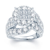 5 CT. T.W. Diamond  Halo 14K White Gold Engagement Ring