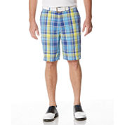PGA TOUR® Plaid Flat-Front Shorts