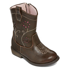 Okie Dokie® Isabella Girls Western Boots - Toddler