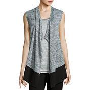 Liz Claiborne® Cascade Vest Cardigan