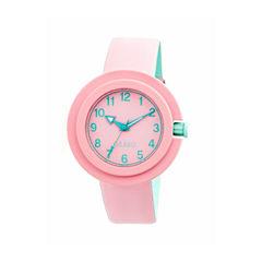 Crayo Womens Equinox Light Pink Strap Watch CRACR2808