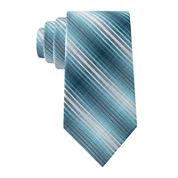 Van Heusen® Thin Textured Stripe Silk Tie - Extra Long