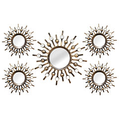 Stratton Home Décor 5-pc. Burst Mirror Set