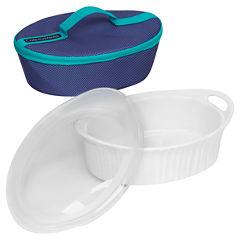 CorningWare® French White® 2.5-qt. Oval Portable Bakeware Set