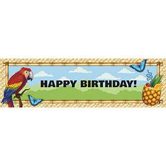 Jungle Party Birthday Banner (STD)