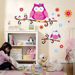 Owl Blossom Giant Wall Decals