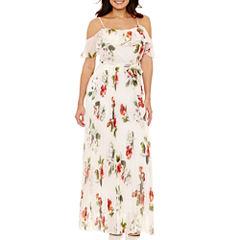 Bisou Bisou Cold Shoulder Maxi Dress