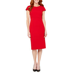 Liz Claiborne Short Sleeve Sheath Dress