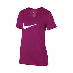 Nike® Short Sleeve Scoop Neck T-Shirt
