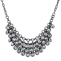 1928® Jewelry Crystal Black-Tone Necklace