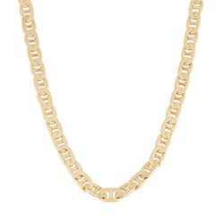 Mens 18K Yellow Gold Over Silver 20