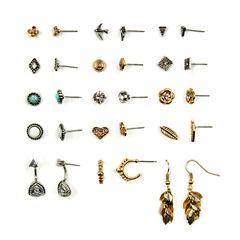 Arizona 15-pc. Clear Earring Sets