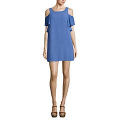 Love Reigns Short Sleeve A-Line Dress-Juniors