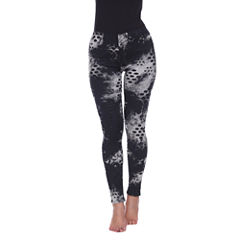 White Mark Distress Camouflage Leggings