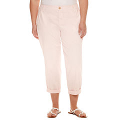 Liz Claiborne Cropped Pants-Plus