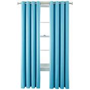 Liz Claiborne® Kathryn Brights Room-Darkening Grommet-Top Curtain Panel