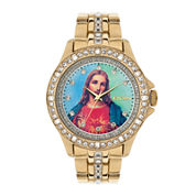 Elgin Mens Crystal-Accent Gold-Tone Jesus Watch