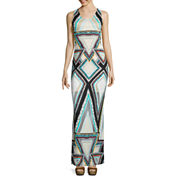 a.n.a® Sleeveless Print Burnout Maxi Dress