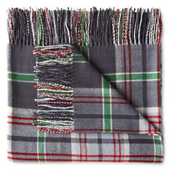 JCPenney Home Ultra Soft Fringe Throw