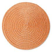 Arlee Set of 4 Round Orange Placemats