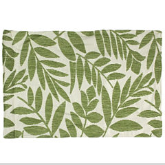 Tropical Leaf Set of 4 Green Placemats