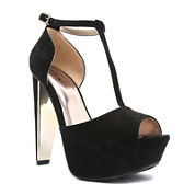 Qupid T-Strap Platform Sandals