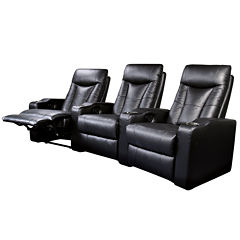 Dallas 3-pc. Faux-Leather Home Theater Reclining Sofa Set