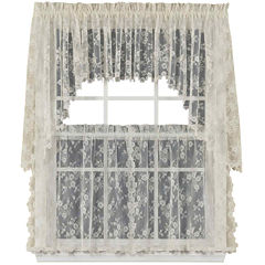 Petite Fleur Rod-Pocket Window Tiers