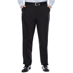 Savane® Crosshatch Flat-Front Dress Pants - Big & Tall