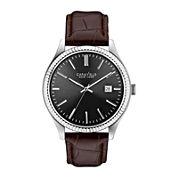 Caravelle New York® Mens Brown Leather Bracelet Watch 43B132