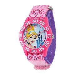 Disney Cinderella Kids Time Teacher Pink Nylon Fast Strap Watch