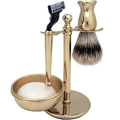 Harry D. Koenig 4-pc. Gold-Plated Shave Set for Men