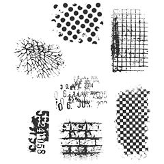 Tim Holtz® Cling Rubber Stamp Set, Ultimate Grunge