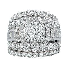 5 CT. T.W. Diamond 14K White Gold Engagement Ring