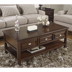 Signature Design by Ashley® Larimer 3-Drawer Cocktail Table