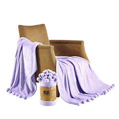 Orient Home Collection Pom Pom Blanket