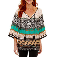 Lark Lane 3/4 Sleeve Peasant Top