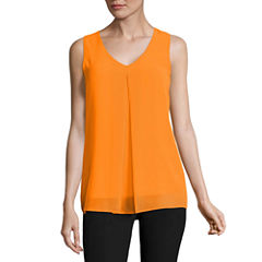 Worthington Sleeveless V Neck T-Shirt
