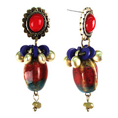 Aris by Treska Post Beaded Earrings