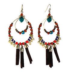 Aris by Treska Tassle Hoop Earrings