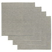 Metro Farmhouse By Park B. Smith® Ticking Stripe Set of 4 Natural Black Placemats