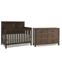 Tiamo Castello 2-PC Baby Furniture Set- Brown