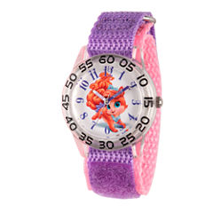 Disney Girls Palace Pets Purple and Silver Tone Treasure Time Teacher Strap Watch W002841