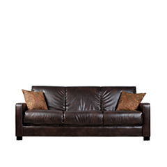 Sally Track-Arm Faux-Leather Convert-a-Couch®