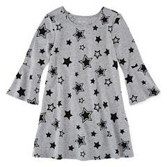Okie Dokie Short Sleeve A-Line Dress - Preschool Girls