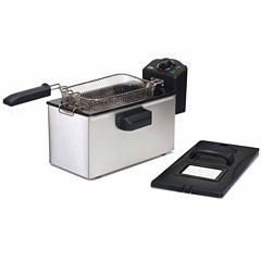 Elite Gourmet EDF-3507 3.5-Quart Immersion Deep Fryer, Stainless Steel