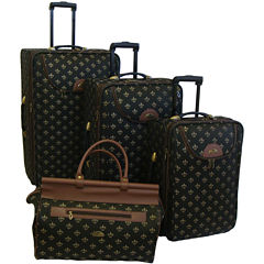 American Flyer Lyon 4-pc. Expandable Upright Luggage Set